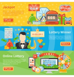 Lottery And Jackpot Horizontal Banners vector image