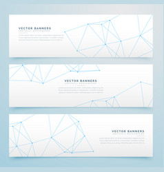 Minimal wire banners set of three vector