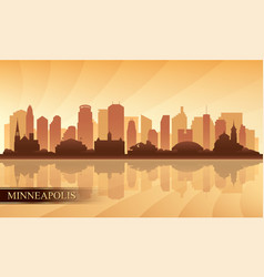 Minneapolis city skyline silhouette background vector