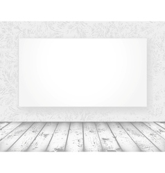 New media banner in a old room vector