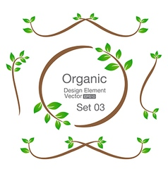 Organic design element isolated on the background vector image vector image