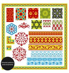 oriental patterns vector image