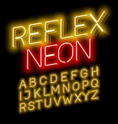 Reflex neon font vector