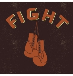 Retro label for boxing vector image vector image