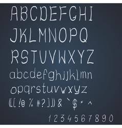 scribble alphabet vector image