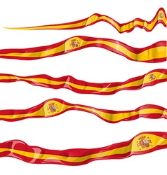 spain flag collaction horizontal on white vector image vector image