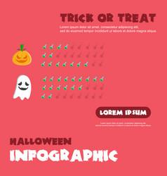 style halloween infographic design vector image