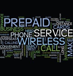 The convenience of prepaid wireless service and vector