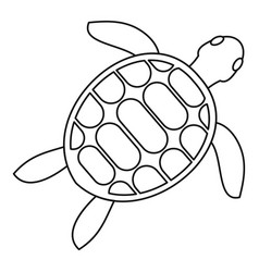 Tortoise icon outline style vector