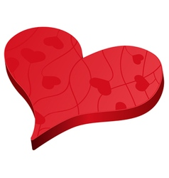 Valentines day red heart symbol vector