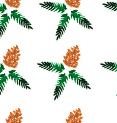 Watercolor seamless pattern - forest cones vector image vector image