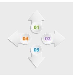 Web arrow buttons icon vector