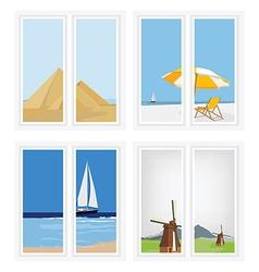 Window view vector image vector image