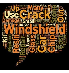 Windshield crack repair text background wordcloud vector