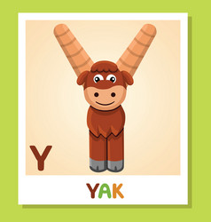 Y is for yak letter y yak cute vector
