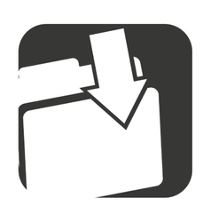 Folder data document icon vector