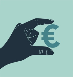 Hand Euro vector image