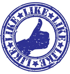 Like thumbs up stamp vector