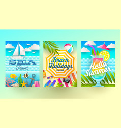 Summer holidays and tropical vacation vector