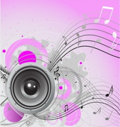 Loudspeaker background vector