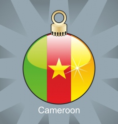 Cameroon flag on bulb vector image