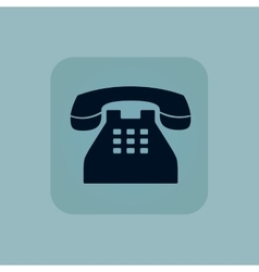 Pale blue phone icon vector