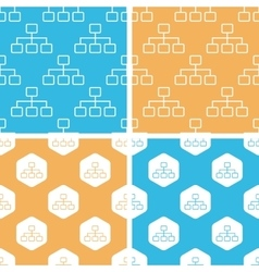 Scheme pattern set colored vector