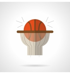 Basketball shot flat color design icon vector image