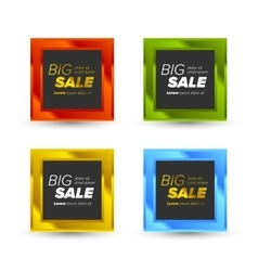 Colorful big sale tags vector
