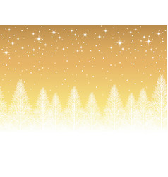 a seamless snowy landscape vector image vector image