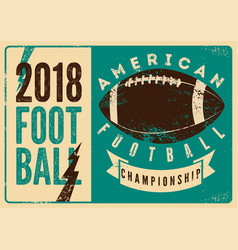 American football typographical vintage poster vector