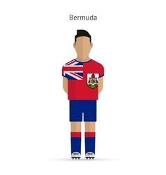 Bermuda football player soccer uniform vector