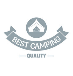 best quality camp logo vintage style vector image vector image
