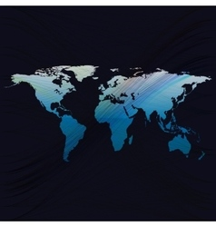 Blue color background with world map abstract vector