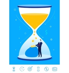 business concept Time is vector image vector image