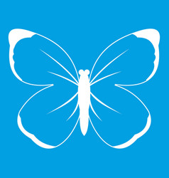 butterfly icon white vector image