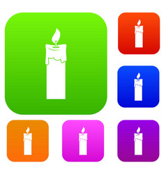 candle set color collection vector image