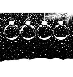 christmas concept design of blank snow ball vector image vector image