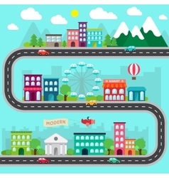 City infographics design vector