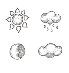 Collection of metrological images vector