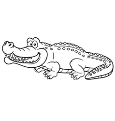 Crocodile outline vector image