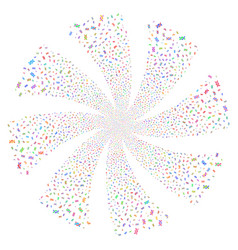 dna spiral fireworks swirl flower vector image