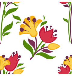 Easter paschal seamless spring flowers pattern vector