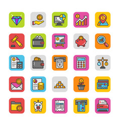 Finance icons 3 vector