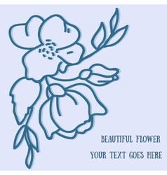Flower hand-drawn sketch for your design vector image vector image
