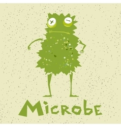 Funny cartoon microbe vector