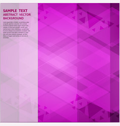 Geometric purple abstract background with copy vector