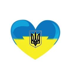 Heart of ukraine vector