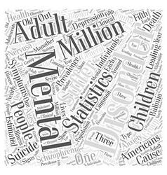Mental health statistics word cloud concept vector