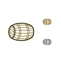 Oak wine cask icon vector